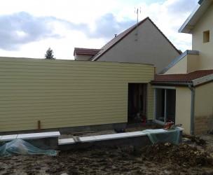 Extension Rénovation Ossature Bois BBC - Mirebeau (21)