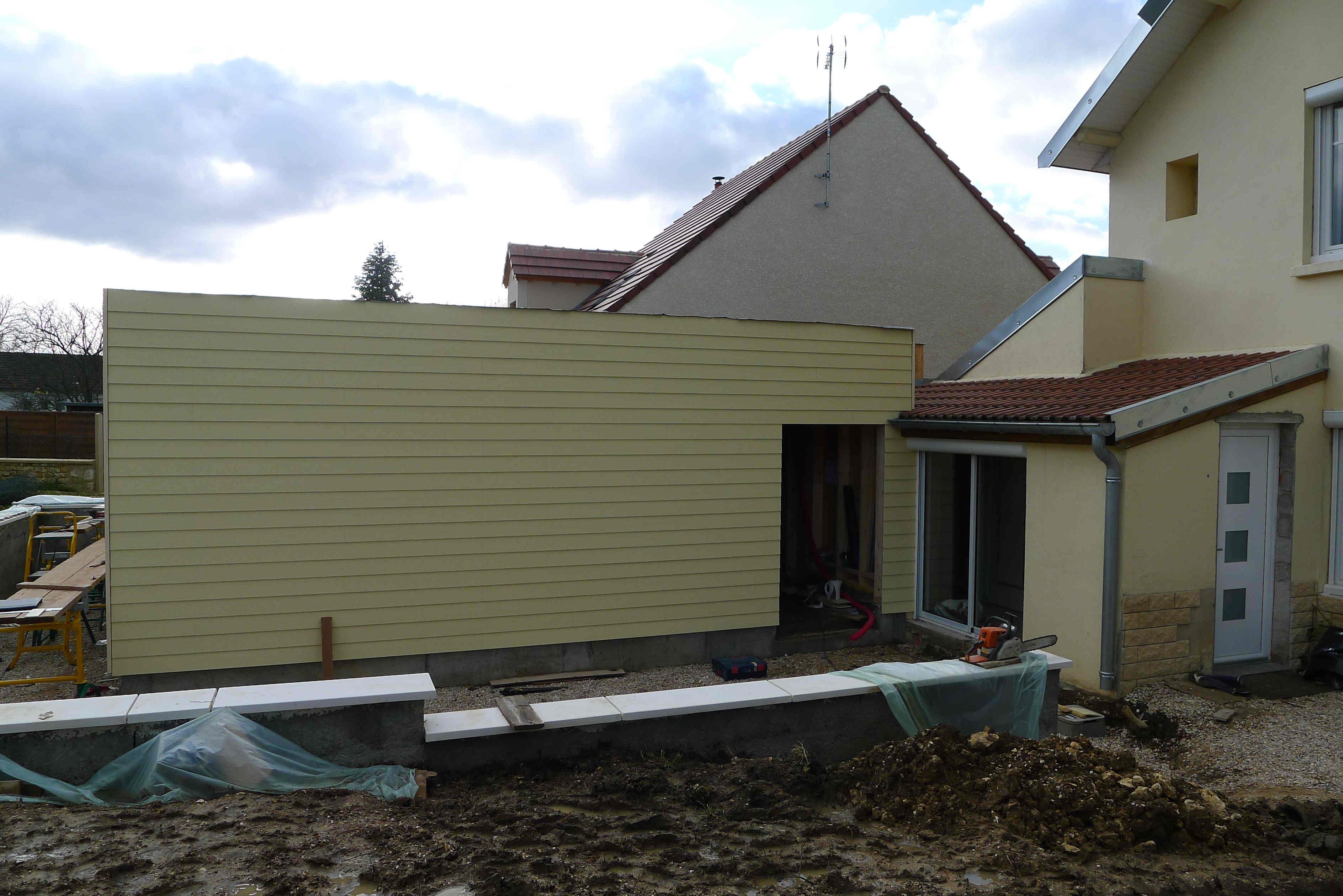 Extension r novation ossature bois bbc mirebeau 21 for Habitat 21 dijon