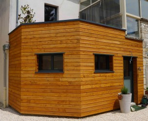 Extension Rénovation Ossature Bois BBC n°2 - Mirebeau (21)