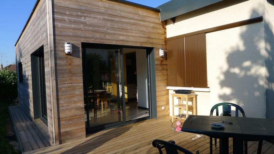 Extension Rénovation Ossature bois BBC Talant