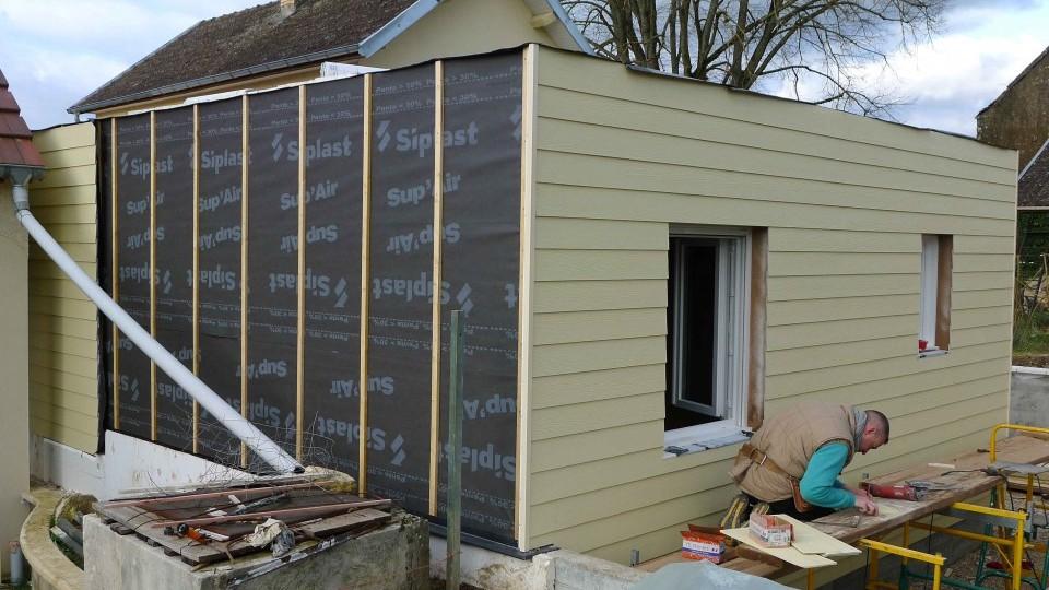 Extension r novation ossature bois bbc mirebeau 21 esquisse bois for Maison 1970 renovation