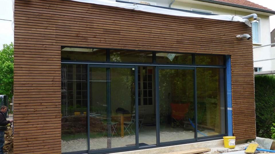 extension r novation ossature bois bbc dijon 21 esquisse bois. Black Bedroom Furniture Sets. Home Design Ideas