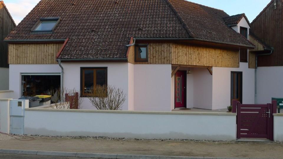 R novation maison ossature bois chevigny 21 esquisse for Renovation corps de ferme