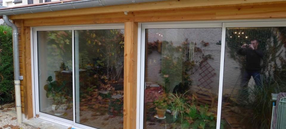 Extension Rénovation Ossature Bois BBC - Dijon (21) - Esquisse Bois