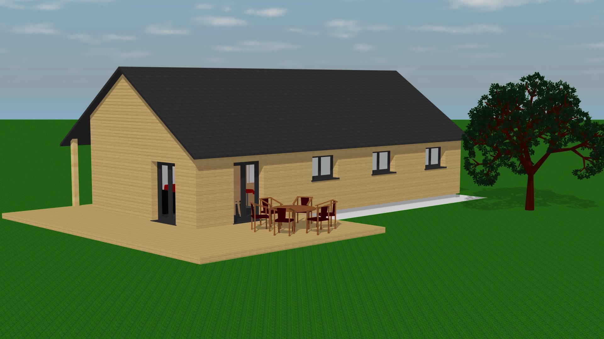 esquisse bois archi design. Black Bedroom Furniture Sets. Home Design Ideas