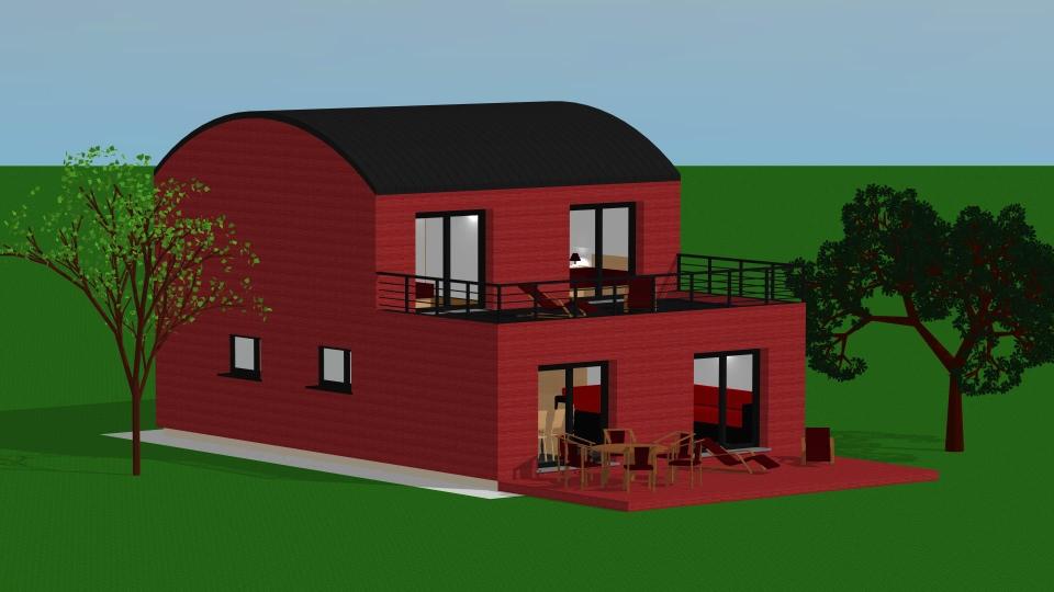 archi design fouchanges esquisse bois. Black Bedroom Furniture Sets. Home Design Ideas